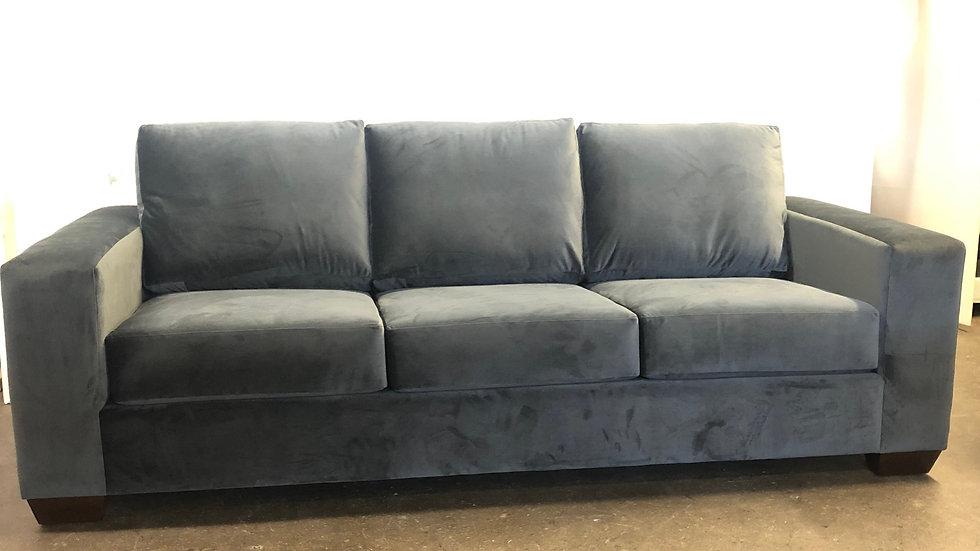 Archie sofa, shown in microfiber
