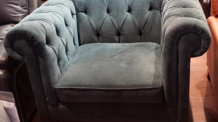 Natalie chesterfield style, deep diamond tufted chair