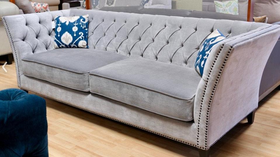 Jackson deep tufted sofa.  Your choice of nailhead color and size.