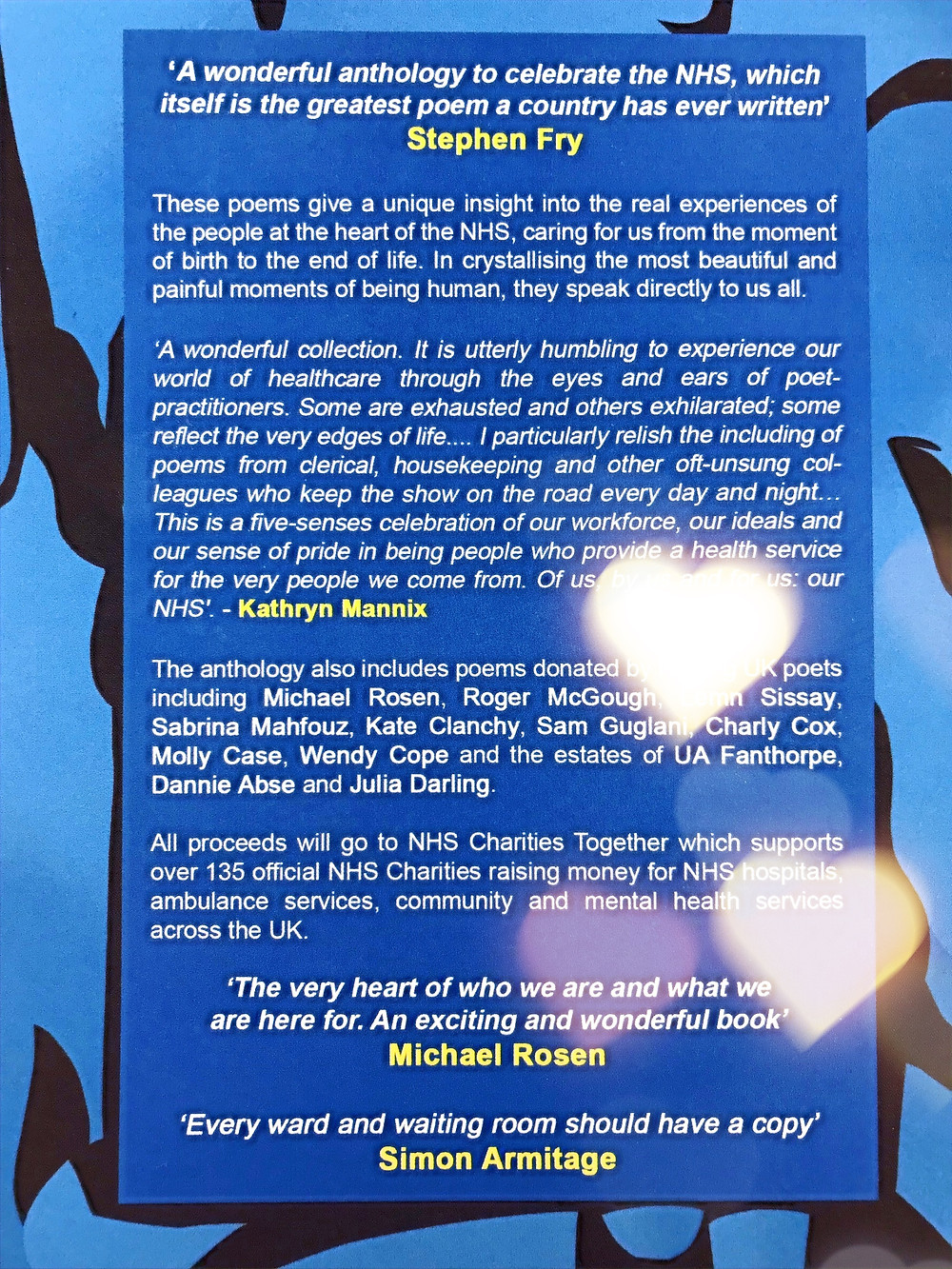 Back Cover for 'These Are The Hands' Poetry Anthology