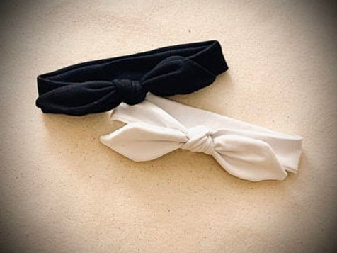 Black and White Bow Knotted Headbands