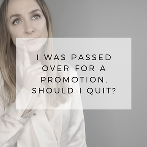 I Was Passed Over For Promotion, Should I Quit?