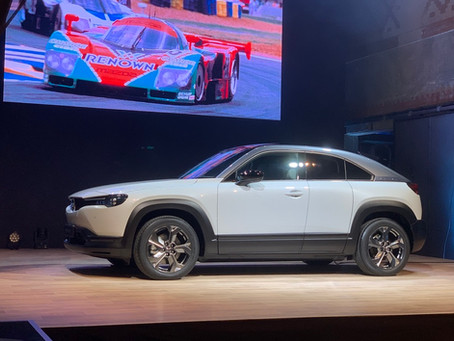 Mazda viste sin nye elbil MX30 i Oslo i dag.