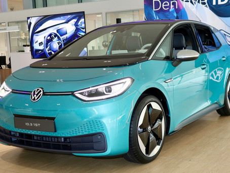 VW ID.3 was shown to customers at a VW dealer in Oslo last week.