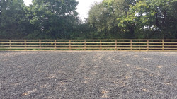 Sand paddock fencing -with kick board view 2