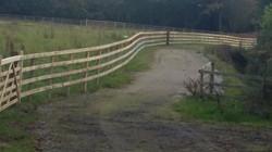 Post Rail Netting -on driveway