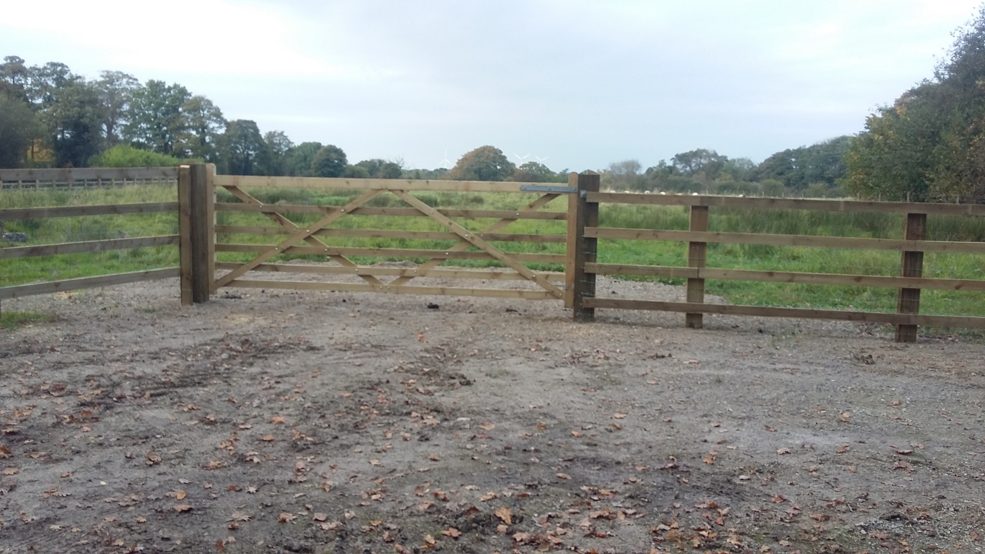 Post Rail With Field Gate