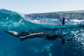 Snorkeling nell'oceano