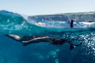 Plongée en apnée dans l'océan