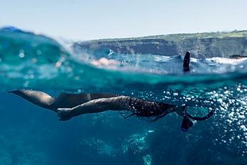 El bucear en el océano