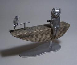 ネコと梯子