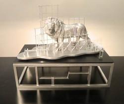 ライオンの工事現場