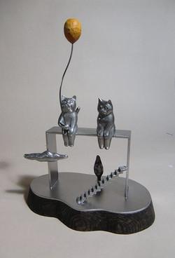 ネコと風船