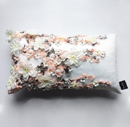 Waterlily 3D Floral Cushion - Peach
