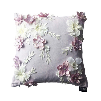 Ethereal 3D Floral Cushion