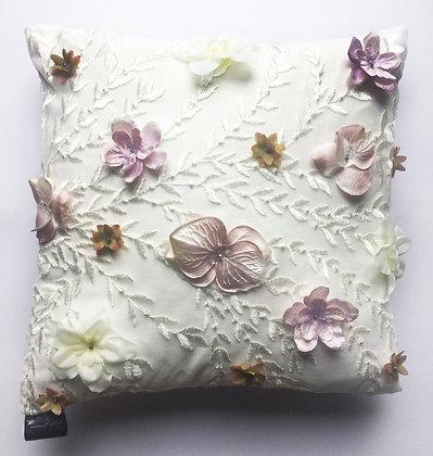 Serenity 3D Floral Cushion
