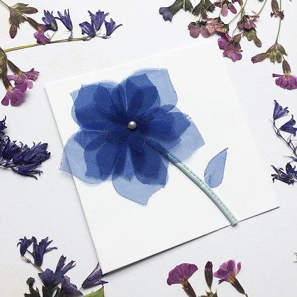 Blue 3D Flower Card