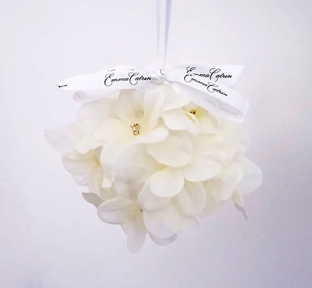 Ivory Flower Bauble - Small