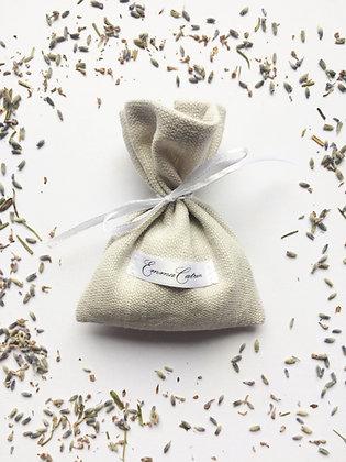 Grey Linen Lavender Bag