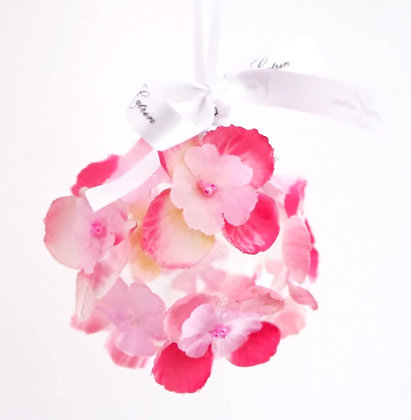 Pink Sweet Pea Bauble - Small