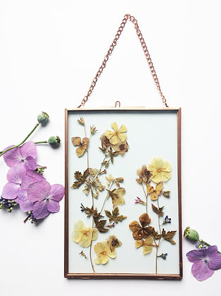 Hint of Autumn Pressed Flower Frame