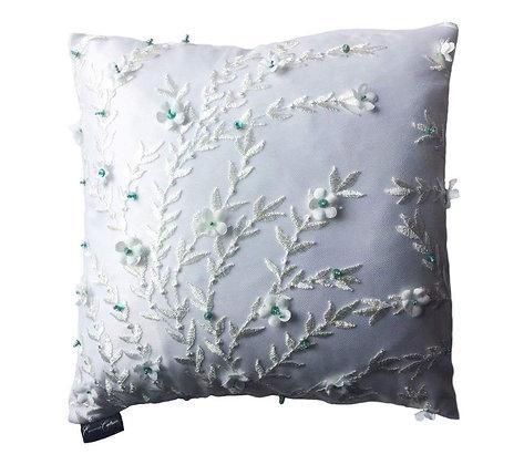 Daisy 3D Floral Cushion - Green