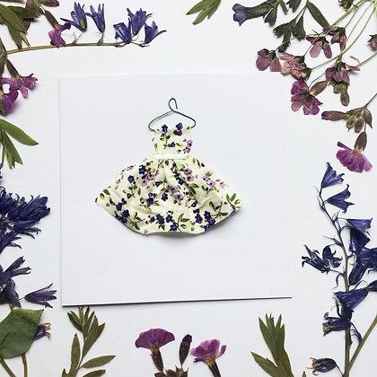 Purple Flower Dress Card