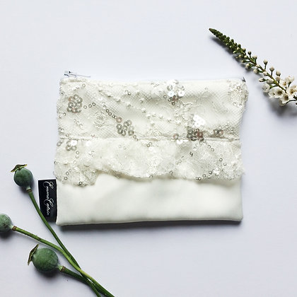 Ivory Sequin Purse