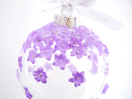 Purple Flower Bauble - Large