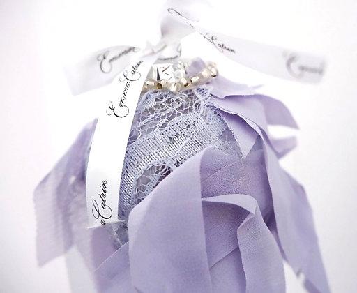 Purple Ribbon Bauble - Small