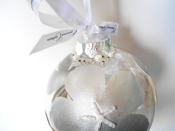 Silver Flower Bauble - Large