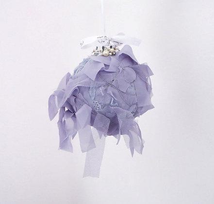 Purple Ribbon Bauble - Large