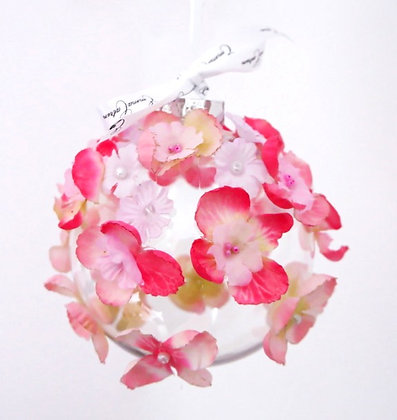 Pink Sweet Pea Bauble - Large