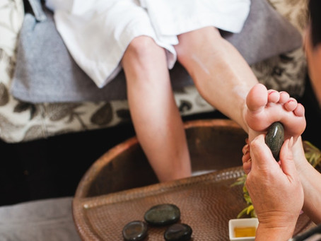Hot Stone Therapy Organic Pedicure in Ana maria beach ,Florida