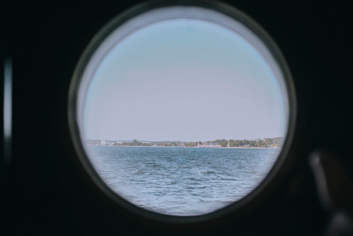 Marine wedding at sea