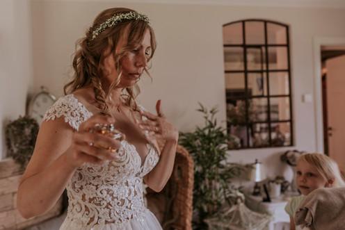 Braut im Brautkleid Hochzeit Hamburg