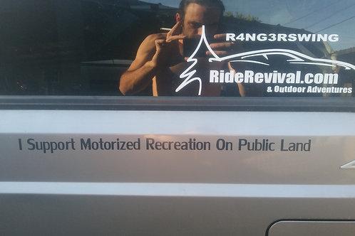 I Support Motorized Recreation On Public Land