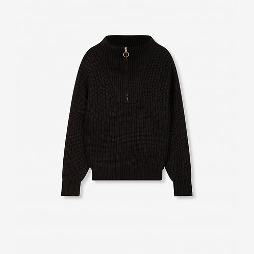 ALIX THE LABEL PULLOVER WITH ZIP