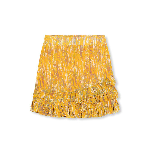 ALIX THE LABEL WOVEN ANIMAL LUREX SKIRT