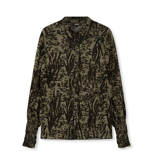 ALIX THE LABEL WOVEN ANIMAL BLOUSE