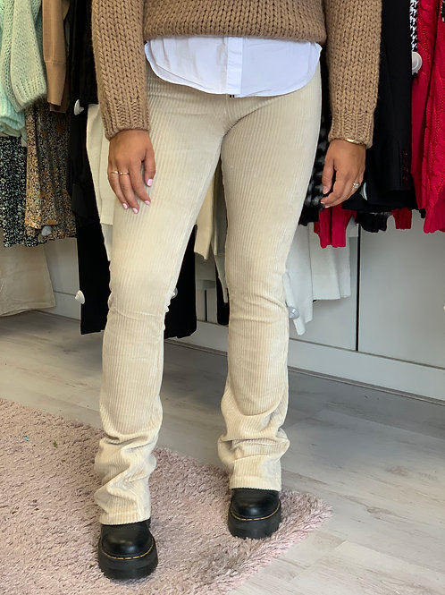RIBBED FLAIRE PANTS