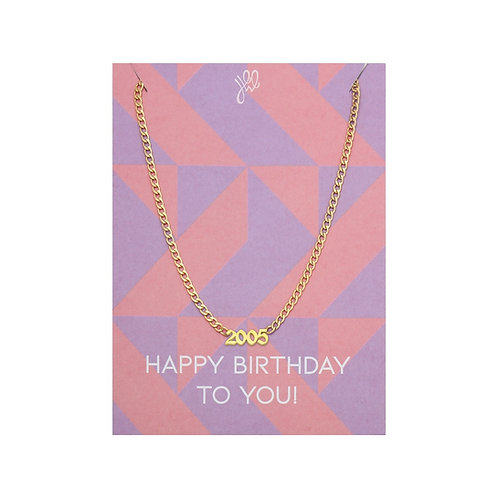 Necklace Date Of Birth Gold