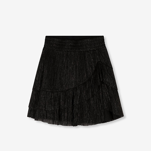 ALIX THE LABEL LUREX MESH SKIRT