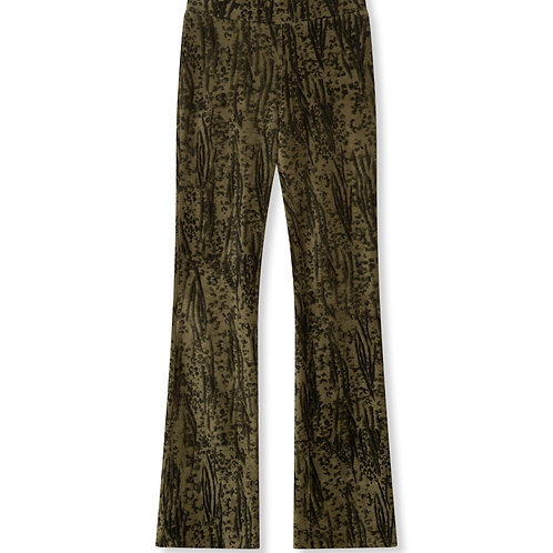 ALIX THE LABEL KNITTED ANIMAL RIB PANTS