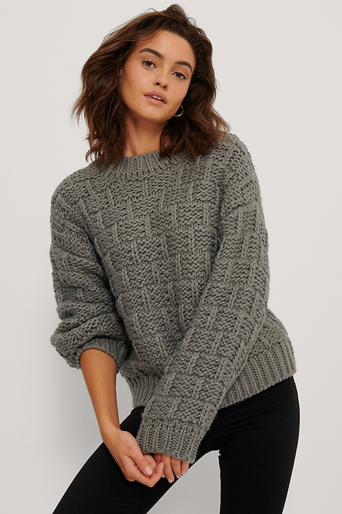 NA-KD KNITTED DETAIL SWEATER