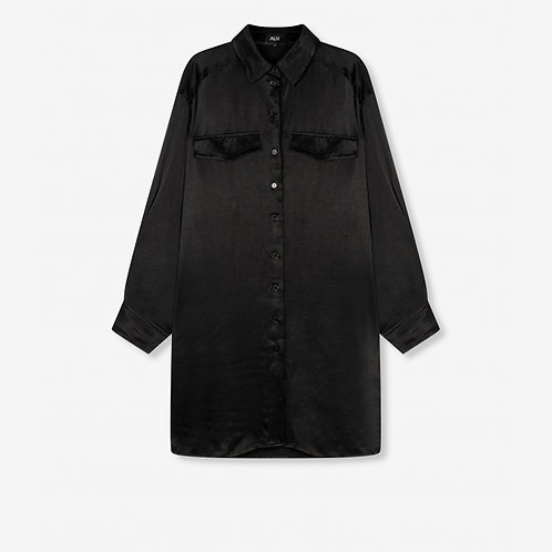 ALIX THE LABEL SATIN BLOUSE