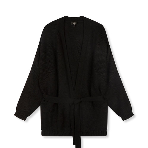 ALIX THE LABEL KNITTED OVERSIZED CARDIGAN