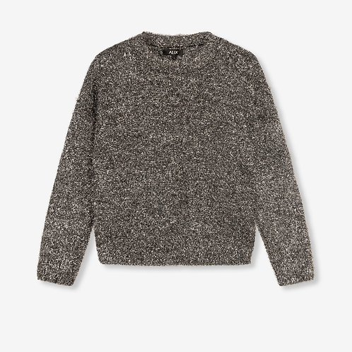 ALIX THE LABEL METALLIC HAIRY PULLOVER