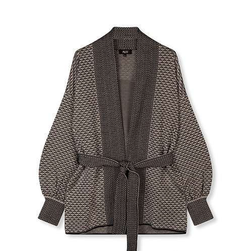 ALIX THE LABEL KNITTED JACQUARD CARDIGAN
