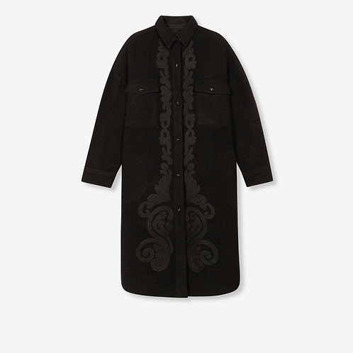 ALIX THE LABEL EMBROIDERED WOOL JACKET